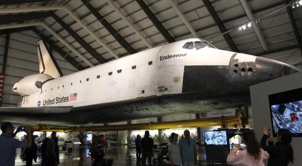 미국항공우주국(NASA)의 우주 왕복선 '인데버'. - 로스엔젤레스=송경은 기자 kyungeun@donga.com